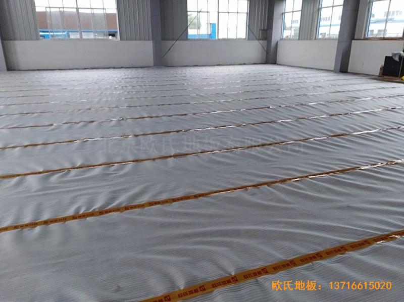 安徽怀宁县新明源电力公司羽毛球馆体育地板施工案例2