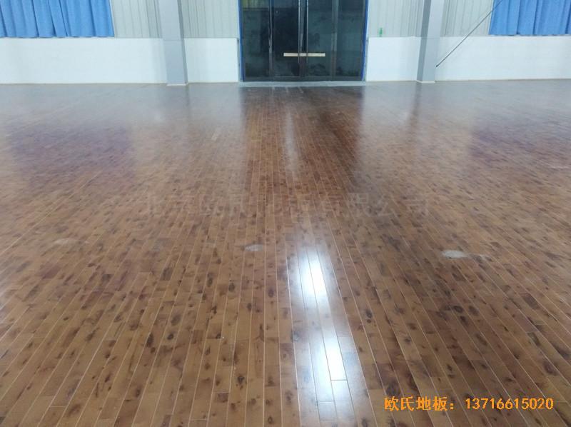 安徽怀宁县新明源电力公司羽毛球馆体育地板施工案例5