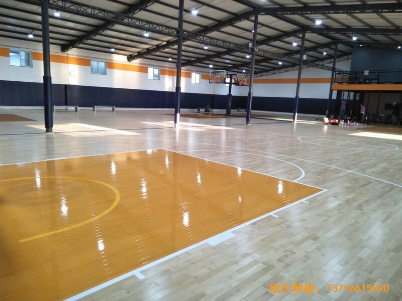 北京game on篮球馆运动木地板安装案例0
