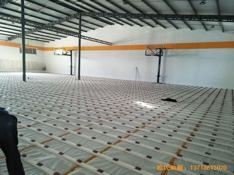 北京game on篮球馆运动木地板安装案例1
