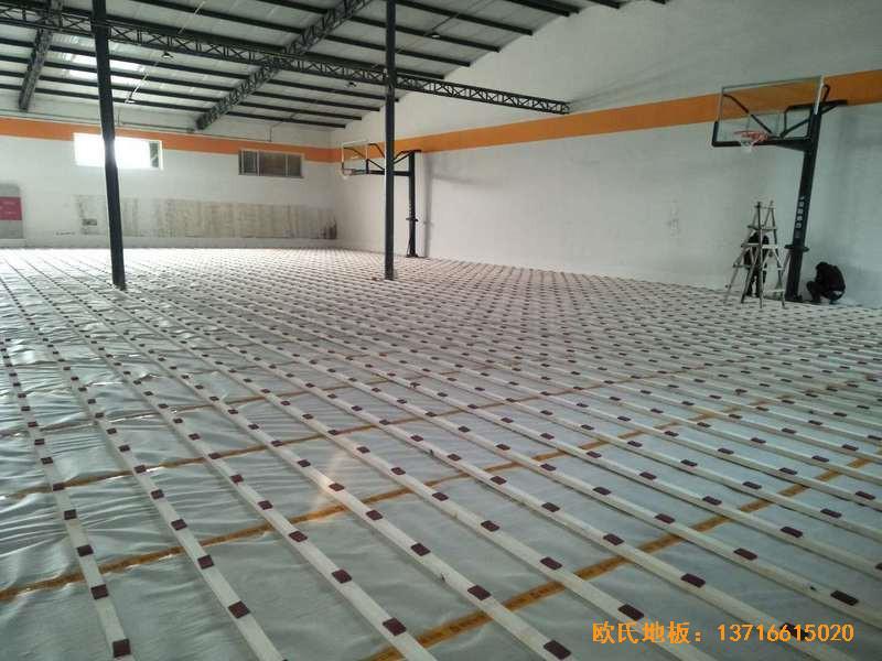 北京game on篮球馆运动木地板安装案例2