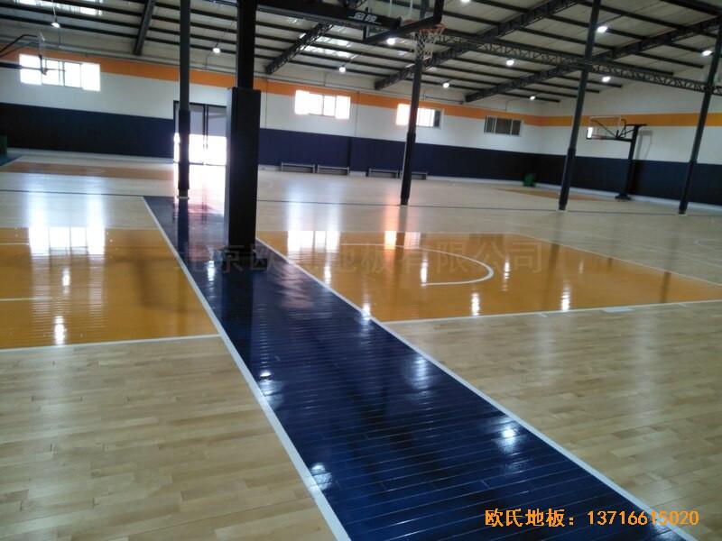北京game on篮球馆运动木地板安装案例4