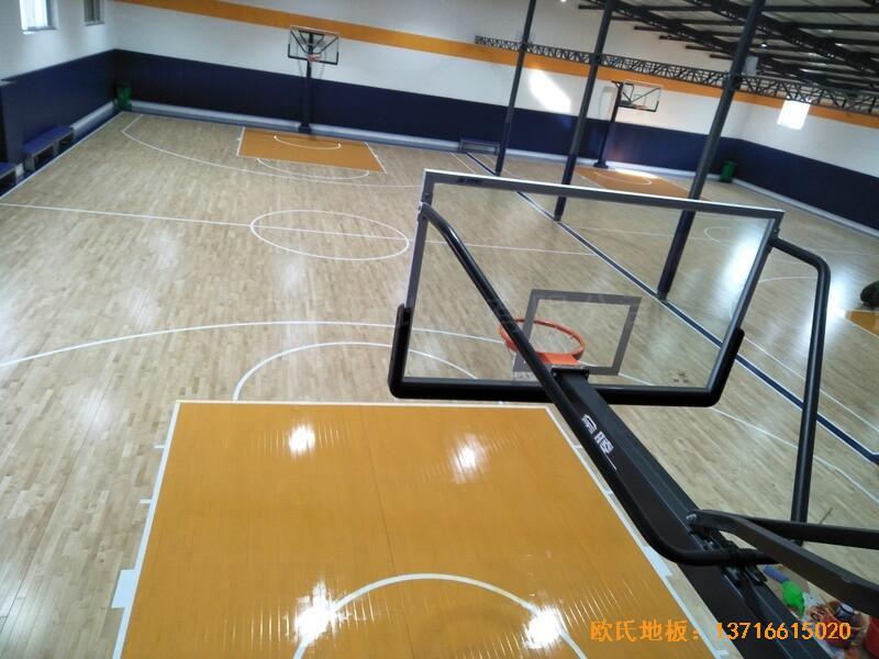 北京game on篮球馆运动木地板安装案例5