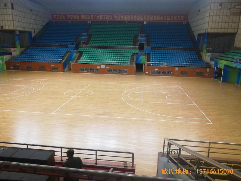 赣州体育馆运动木地板铺设案例1