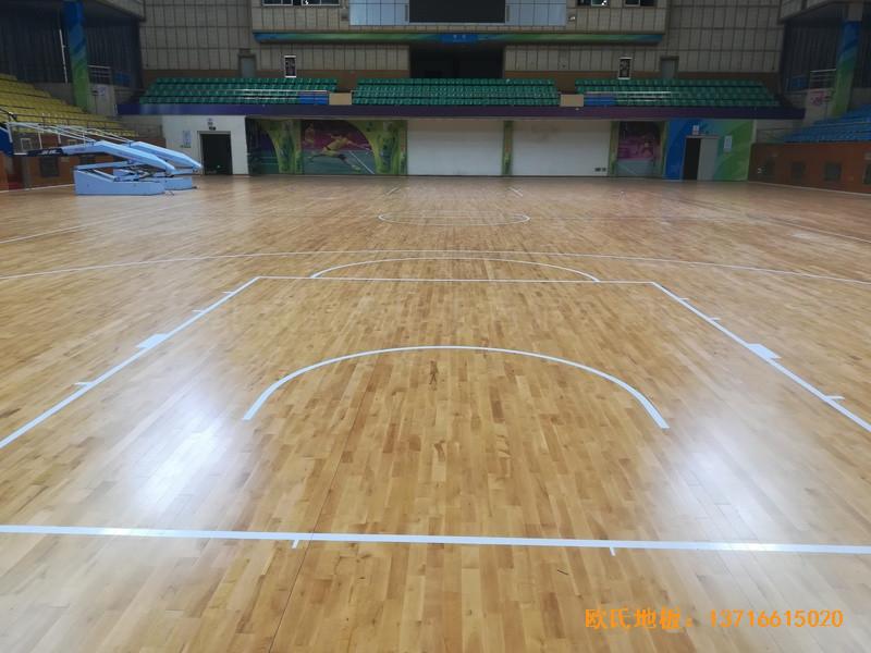 赣州体育馆运动木地板铺设案例2