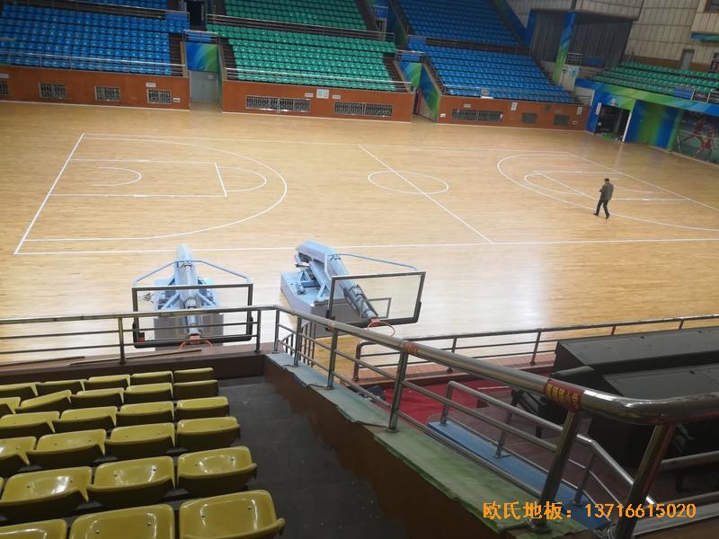 赣州体育馆运动木地板铺设案例3