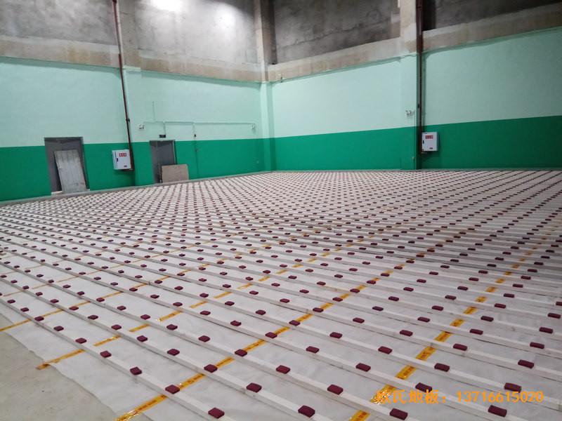 重庆市九龙坡区友动力羽毛球俱乐部运动木地板安装案例1
