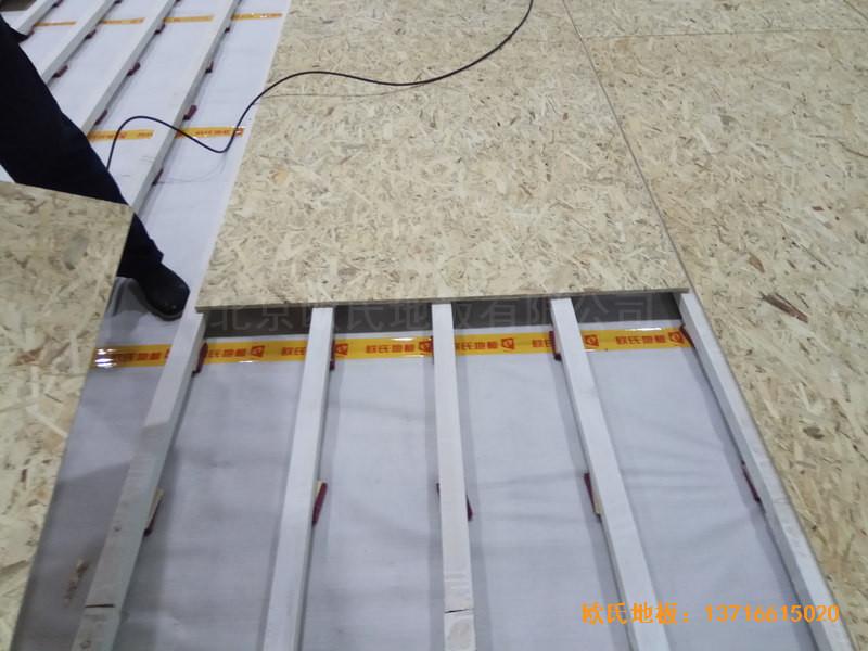 重庆市九龙坡区友动力羽毛球俱乐部运动木地板安装案例2
