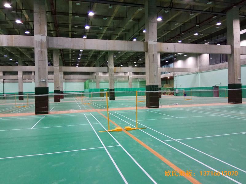 重庆市九龙坡区友动力羽毛球俱乐部运动木地板安装案例5