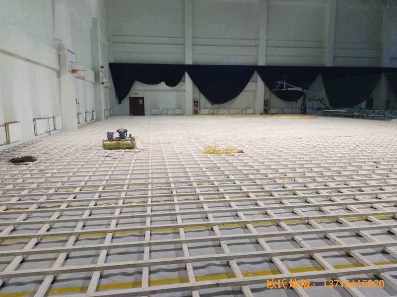 北京房山区燕山体育馆运动木地板施工案例1