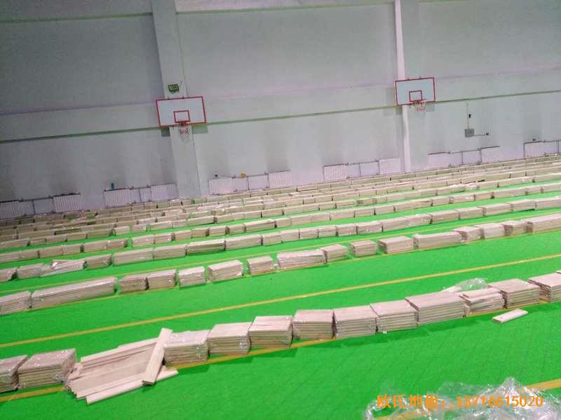 北京房山区燕山体育馆运动木地板施工案例2