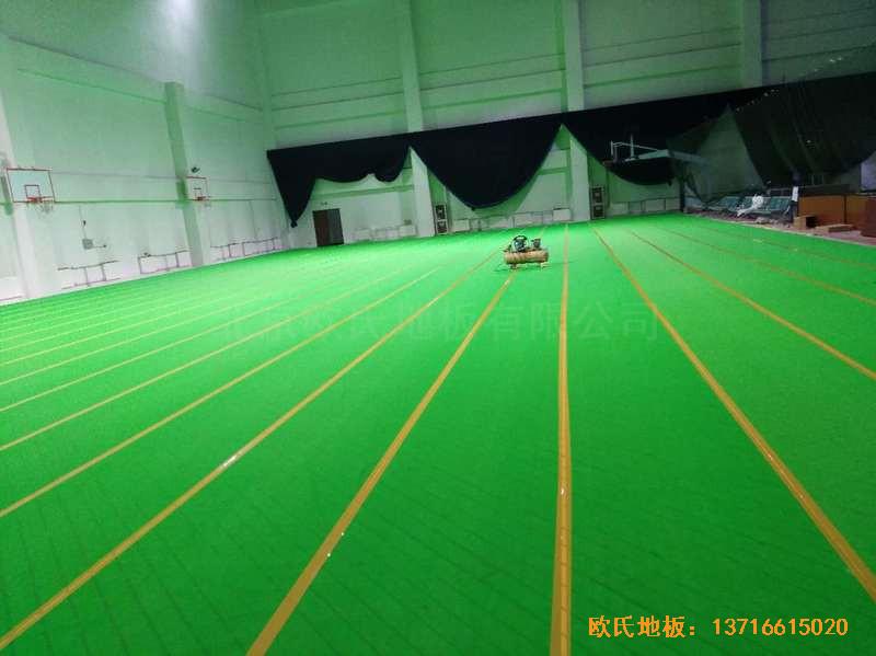北京房山区燕山体育馆运动木地板施工案例3