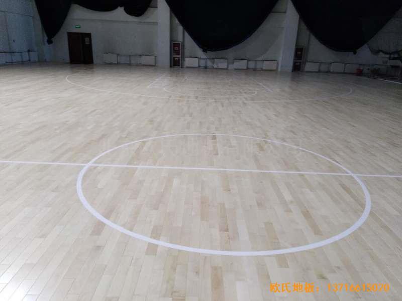 北京房山区燕山体育馆运动木地板施工案例4
