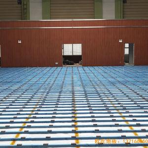 山西晋中榆次王湖小学体育地板施工案例