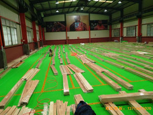 湖南长沙雨花区78号球馆体育地板铺设案例