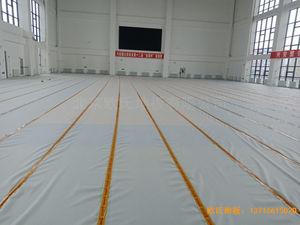 青岛黄岛区滨海街道中心小学运动木地板安装案例