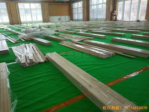 北京大兴区团河路98号运动地板铺设案例