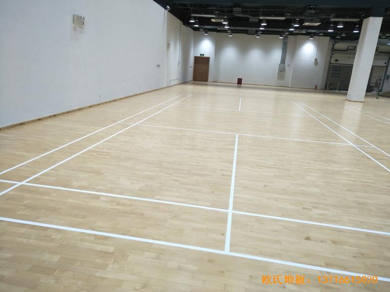 上海铺东宁桥路669号体育馆运动木地板安装案例
