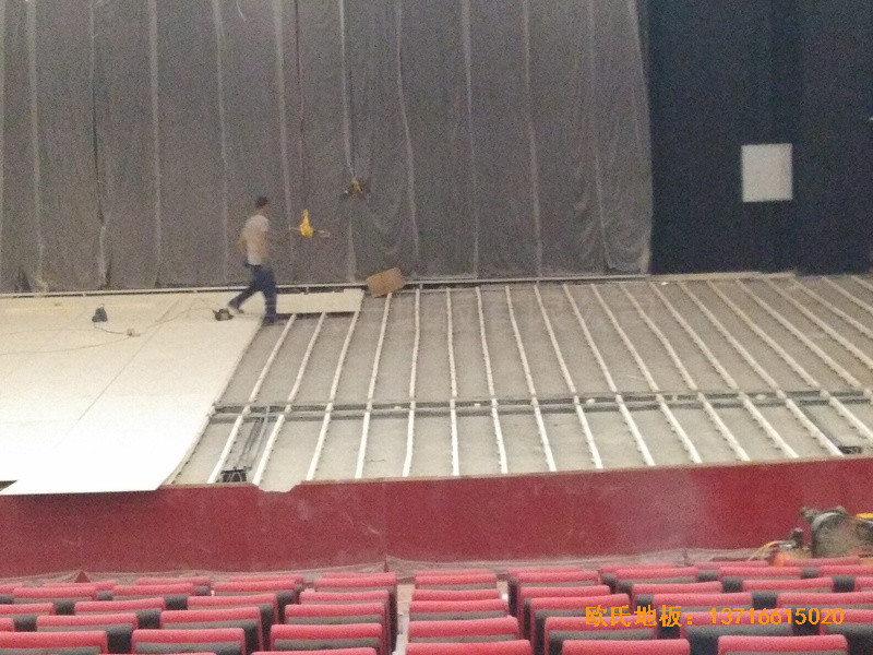 唐山师范学院舞台体育木地板铺装案例