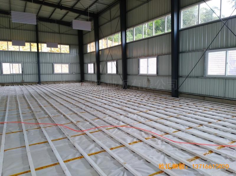巴布亚新几内亚羽毛球馆体育地板铺设案例