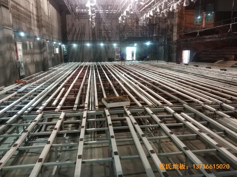 杭州职工之家舞台体育地板铺设案例