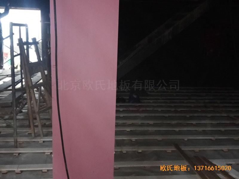 河北承德滦平一中升降舞台运动地板安装案例
