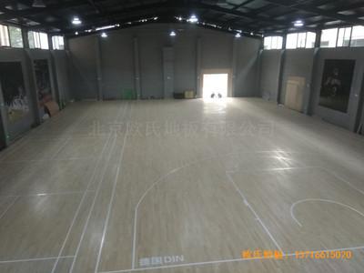 山西长治双创梦工厂篮球体育地板安装案例