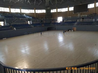 湖南黄花坪体育馆运动地板铺设案例
