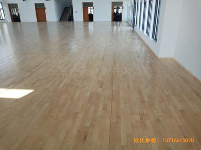 宁波至城学校篮球馆运动木地板安装案例