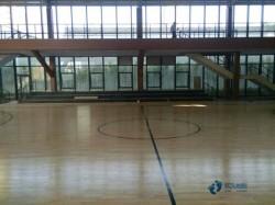 专用体育篮球地板施工